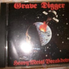 CDs de Música: CD - GRAVE DIGGER - HEAVY METAL BREAKDOWN - 9 CANCIONES NOISE MODERN MUSIC 1996. Lote 33383784