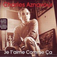 CDs de Música: CHARLES AZNAVOUR - JE T'AIME COMME ÇA - 3CDS IMPECABLES. Lote 33419706