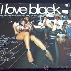 CDs de Música: I LOVE BLACK, LOS MEJORES TEMAS DE R&B, RAP, HIP-HOP Y BLACK - VARIOS ARTISTAS - DOBLE CD, 2 CD'S. Lote 33518457