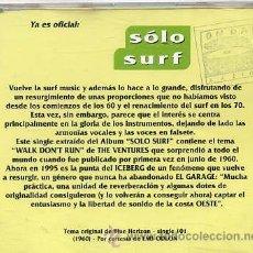 CDs de Música: THE VENTURES / WALK DON'T RUN (CD SINGLE CAJA 1995). Lote 33675452