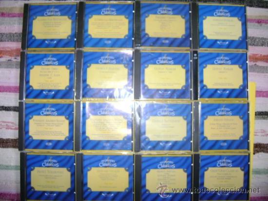 19 CD MÚSICA CLÁSICA GRANDES CLÁSICOS, EDICIONES DELPRADO, 1996. BEETHOVEN, MAHLER, MOZART,... (Música - CD's Clásica, Ópera, Zarzuela y Marchas)