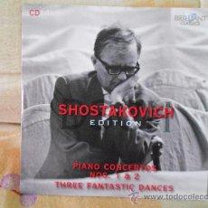 CDs de Música: SHOSTAKOVICH PIANO CONCERTOS NOS. 1 & 2, THREE FANTASTIC DANCES PAAVO BERGLUND. Lote 33679634