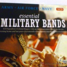CDs de Música: ESSENTIAL MILITARY BANDS. ARMY, AIR FORCE, NAVY. 3 CD.. Lote 33811451