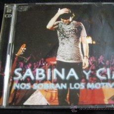 CDs de Música: SABINA Y CIA-NOS SOBRAN LOS MOTIVOS-2 CDS. Lote 33993966