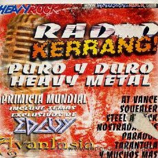 CDs de Música: HEAVY ROCK - RADIO KERRANG! / SAMPLER (CD 15 TEMAS). Lote 34109493