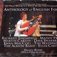 CDs de Música: ANTHOLOGY OF ENGLISH FOLK - 2 CD - RICHARD THOMPSON / EWAN MACCOLL / ALBION BAND - COMO NUEVO. Lote 34143538