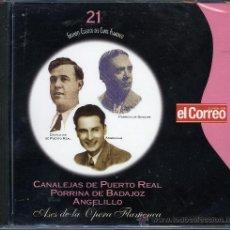 CDs de Música: CLASICOS DEL CANTE FLAMENCO. CANALEJAS DE PUERTO REAL, PORRINA DE BADAJOZ, ANGELILLO. Lote 109032651
