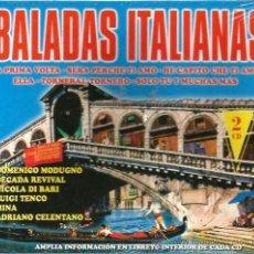 CDs de Música: DOBLE CD BALADAS ITALIANAS : DOMENICO MODUGNO, MINA, CELENTANO, NICOLA DI BARI, LUIGI TENCO, ETC . Lote 34353794