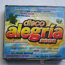 CDs de Música: DISCO ALEGRÍA 2002 - 4 CDS - 84 TEMAS - CD. Lote 34396772