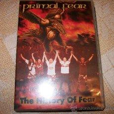 CDs de Música: DVD PRIMAL FEAR - THE HISTORY OF FEAR - DVD + BONUS AUDIO CD – POWER HEAVY METAL. Lote 34598636