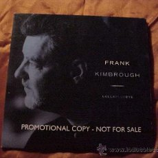 CDs de Música: FRANK KIMBROUGH. LULLABLUEBYE. CD PROMOCIONAL. EDICION DE NEW YORK. Lote 34617295