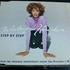 CDs de Música: WHITNEY HOUSTON, STEP BY STEP - CD SINGLE PROMOCIONAL. Lote 34631810