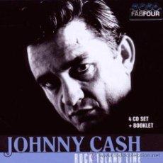 CDs de Música: JOHNNY CASH * BOX SET 4 CD * ROCK ISLAND LINE * CAJA PRECINTADA * RARE. Lote 36147086