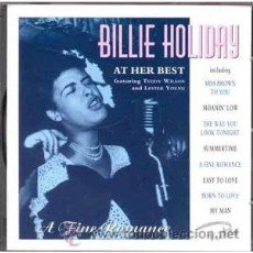 CDs de Música: BILLIE HOLIDAY AT HER BEST. Lote 34930643