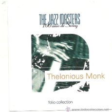 CDs de Música: THELONIOUS MONK-THE JAZZ MASTERS. Lote 34933944