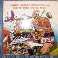 CDs de Música: MCD SKA-P - CANNABIS - SOLAMENTE POR PENSA (ITALIANO) - PLANETA SKORIA - WELLCOME TO HELL. Lote 176605565