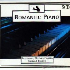 CDs de Música: ROMANTIC PIANO 5 CDS BEETHOVEN MOZART CHOPIN TCHAIKOVSKY. Lote 35184254