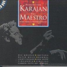 CDs de Música: HERBERT VON KARAJAN THE MAESTRO - 3 CD BOX - 1996 DISKY - EDICIÓN HOLANDESA. Lote 35252392