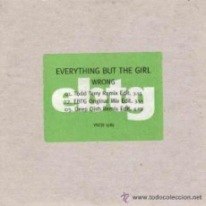 CDs de Música: EVERYTHING BUT THE GIRL - MAXI-CD - WRONG - PROMOCIONAL!!! - MUY RARO - FUNDA CARTON - NUEVO!!. Lote 26494288
