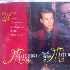 CDs de Música: CD SINGLE PROMO - MATT MONRO JR. DUETS WITH MATT MONRO - WERE GONNA CHANGE THE WORLD. Lote 35395912