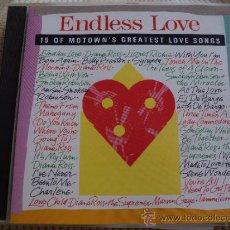 CDs de Música: ENDLESS LOVE: 15 OF MOTOWN'S GREATEST LOVE SONGS. Lote 35445349