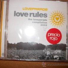 CDs de Música: CD - LOVE RULES - THE LOVEPARADE COMPILATION 2003 - PRECINTADO. Lote 35553547