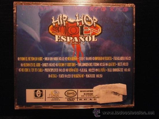 CDs de Música: CD. HIP HOP SOLO EN ESPAÑOL VOL 4 - Foto 2 - 35668423