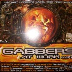 CDs de Música: 2 CD - GABBERS AT WORK COMP.2 - BLANCO Y NEGRO - PRECINTADO. Lote 35692651