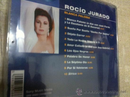 CDs de Música: CD ROCIO JURADO BLANCA PALOMA Y OTROS EXITOS ROCIO JURADO (Artista)-NUEVO - Foto 2 - 36870988
