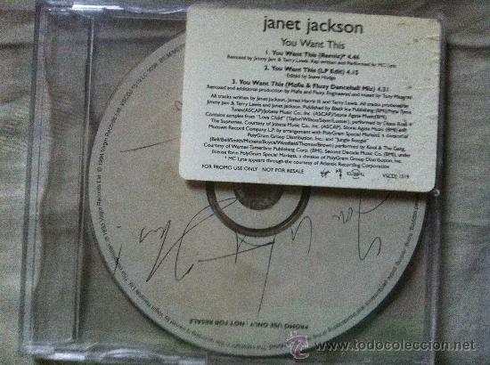 CD SINGLE - JANET JACKSON - YOU WANT THIS - 3 TRACKS - PROMO