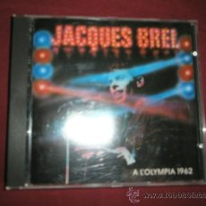 CDs de Música: CD-JACQUES BREL-A L´OLYMPIA 1962-15 CANCIONES-1962-PHILIPS-ESCASO-PERFECTO.. Lote 35813389