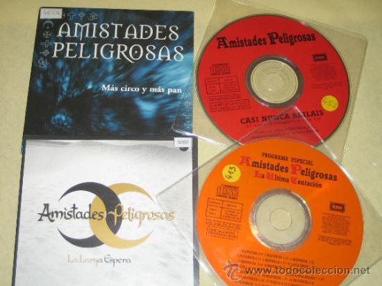AMISTADES PELIGROSAS - LOTE DE 4 CDS SINGLES PROMOS (Música - CD's Otros Estilos)