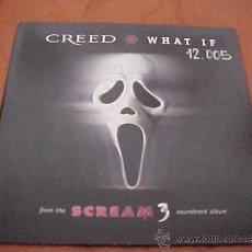 CDs de Música: CREED. WHAT IF. SCREAM 3. CD PROMOCIONAL. EDICION DE AUSTRIA.. Lote 35907788