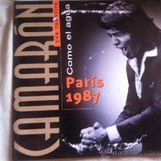 CDs de Música: CD SINGLE - CAMARON (CON TOMATITO) - COMO EL AGUA (PARIS 1987). Lote 35982325