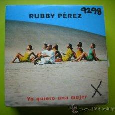 CDs de Música - CD SINGLE PROMO CARTON - RUBBY PEREZ - YO QUIERO UNA MUJER - 36032926