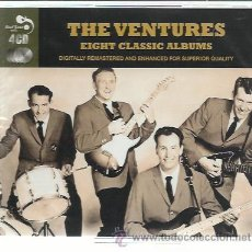 CDs de Música: VENTURES - 8 CLASSIC ALBUMS - CAJA 4 CDS REAL GONE NUEVA -1959-1962. Lote 36023847