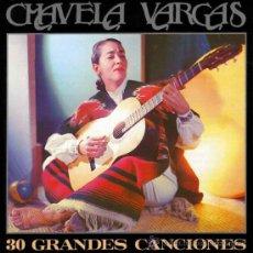 CDs de Música: CHAVELA VARGAS - 30 GRANDES CANCIONES (2 CD'S) (PRECINTADO). Lote 36026486