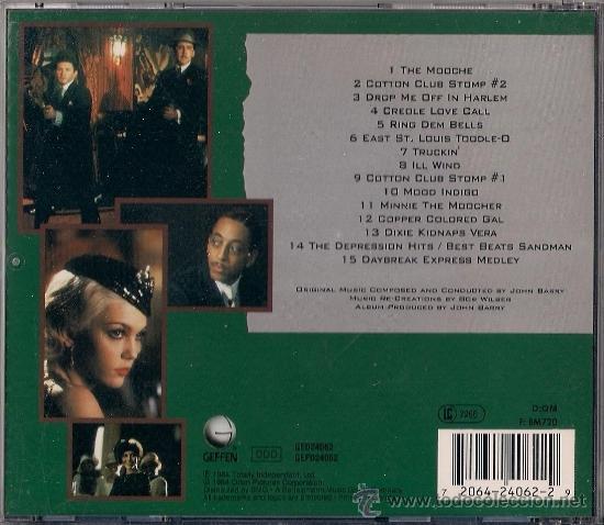 CDs de Música: BSO Cotton Club - CD - Geffen 1984 - Foto 2 - 36029045