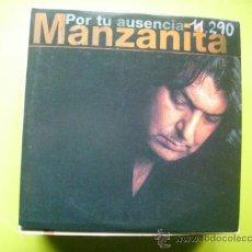 CDs de Música: MANZANITA / POR TU AUSENCIA (CD SINGLE CARTÓN 1999). Lote 36037479