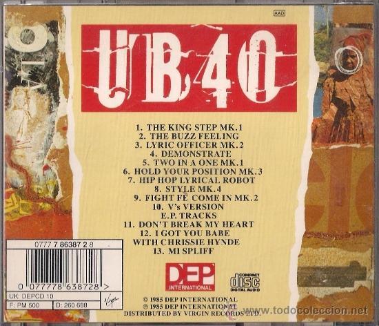 CDs de Música: UB40 - Baggariddim - CD - Virgin 1985 - Edición holandesa - Foto 2 - 36045164