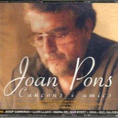 CDs de Música: DOBLE CD JOAN PONS ( COLABORA NINA, LLUIS LLACH, J. CARRERAS, BIEL MAJORAL I MARIA DEL MAR BONET . Lote 36143925