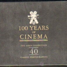 CDs de Música: 100 YEARS OF CINEMA. THE GOLD COLLECTION. 40 CLASSIC PERFORMANCES ( 2 CD ) CD-DOBLE-051. Lote 36149559