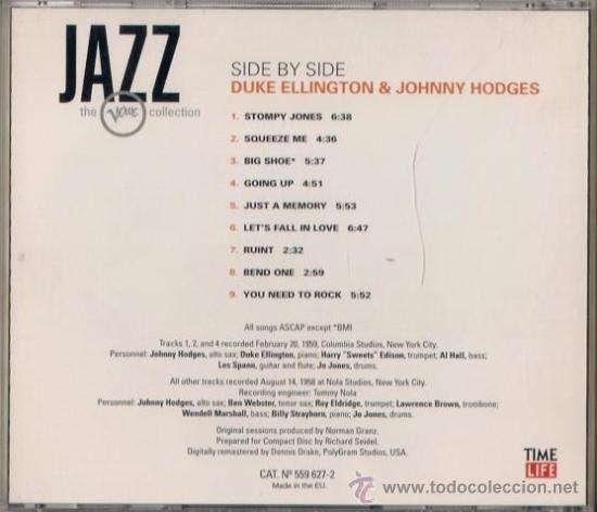 CDs de Música: Duke Ellington and Johnny Hodges - Side by side - CD Jazz The Verve collection - Foto 2 - 36186479