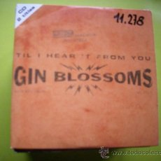 CDs de Música: GIN BLOSSOMS, TIL I HEART IT FROM YOU, HANS ARE TIED, 2 CANCIONES , AÑO 1996, CD PROMO PEPETO. Lote 36264208