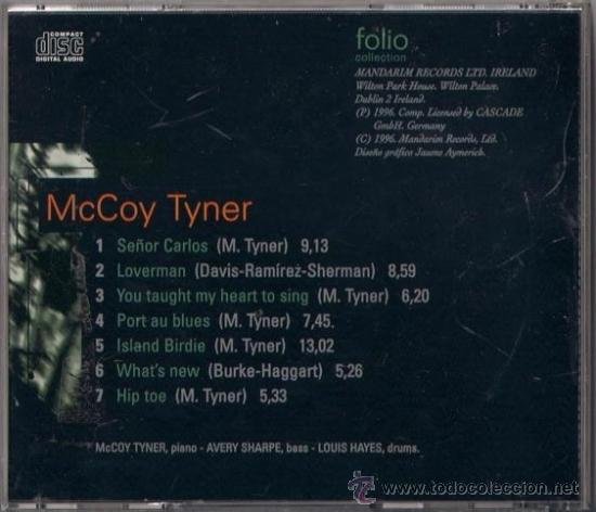 CDs de Música: McCoy Tyner - CD - The Jazz Masters 100 años de Swing 1996 Edición irlandesa - Hip toe - Foto 2 - 36265444