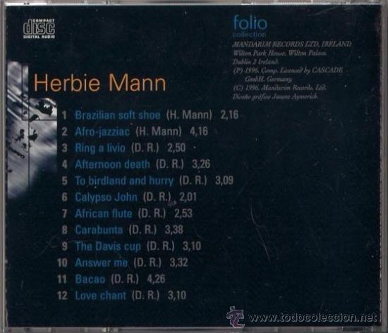 CDs de Música: Herbie Mann - CD - The Jazz Masters 100 años de Swing 1996 Edición irlandesa - Afro Jazziac - Foto 2 - 36265515