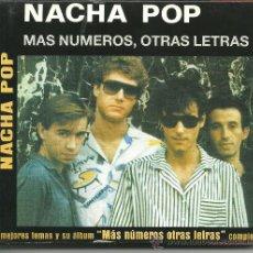 CDs de Música: NACHA POP- MAS NUMEROS, OTRAS LETRAS. Lote 36280420