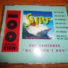 CDs de Música: THE VENTURES WALK DON´T RUN SOLO SURF CD SINGLE PROMOCIONAL CADENA 100 PLASTICO AÑO 1995 1 TEMA . Lote 36328913