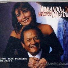 CDs de Música: ARMANDO MANZANERO Y TANIA LIBERTAD / COMO HAN PASADO LOS AÑOS (CD SINGLE CAJA 1998). Lote 36357884