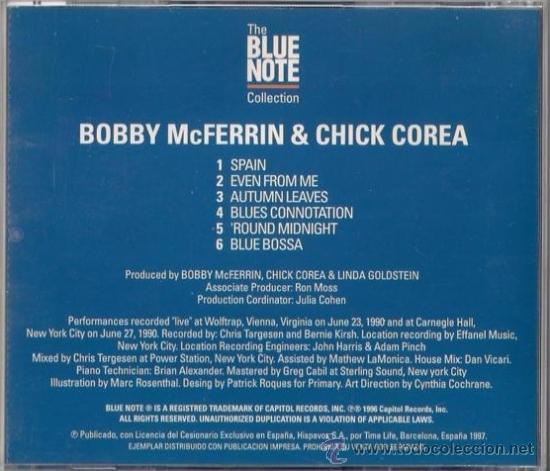CDs de Música: Bobby McFerrin & Chick Corea - CD 1997 The Blue Note Collection - Foto 2 - 36384310